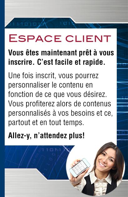 Connexion à votre Espace client