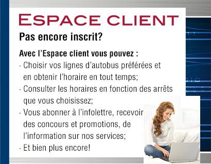 Inscription à votre Espace client