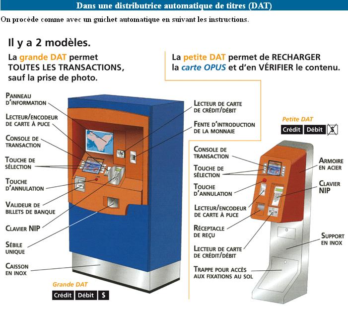 Carte Opus Montreal.Carte Opus Rtl